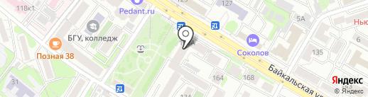 Покровское на карте Иркутска