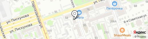Прибой на карте Иркутска