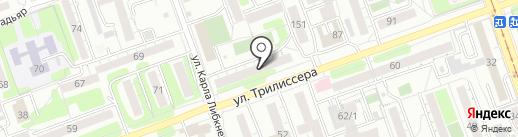 Цветкофф на карте Иркутска