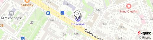 Стройка38 на карте Иркутска
