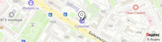 Арт-эффект на карте Иркутска