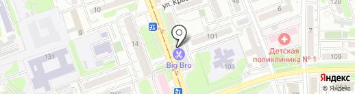 Магазин тканей на карте Иркутска