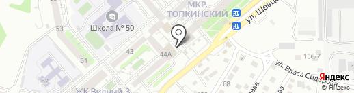 Хадай на карте Иркутска