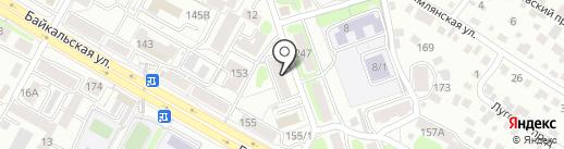 Октябрьский на карте Иркутска
