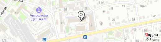 Офисный квартал на карте Иркутска
