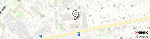 Дельта-М на карте Иркутска