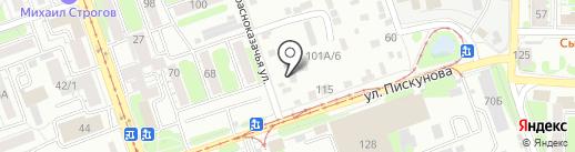 Мегаполис на карте Иркутска