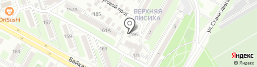 Дезинфектор на карте Иркутска