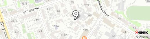 Krow Hostel на карте Иркутска