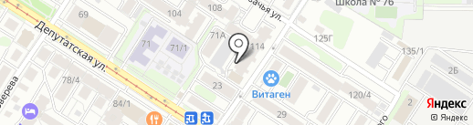 Эбру на карте Иркутска