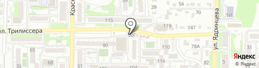Сеть киосков по продаже мороженого на карте Иркутска