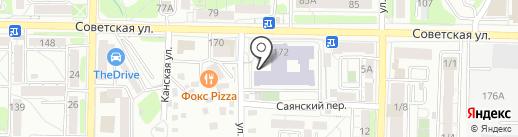 Секция карате на карте Иркутска