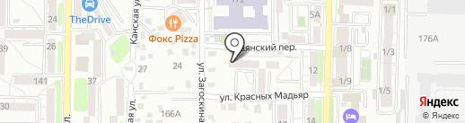 Ант на карте Иркутска
