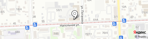 Ортос на карте Иркутска
