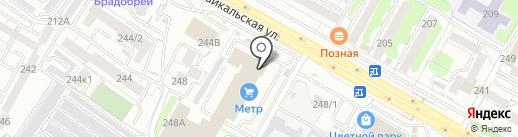 Малина на карте Иркутска