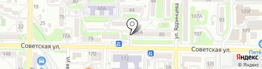 Алтан на карте Иркутска