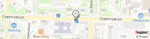 Магазин овощей и фруктов на карте Иркутска
