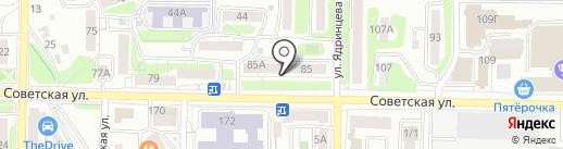 На все руки на карте Иркутска