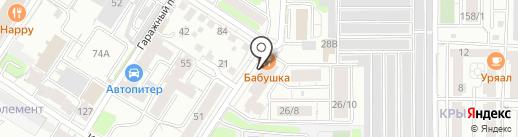 Горыныч на карте Иркутска