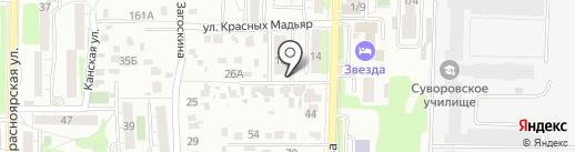 JEM на карте Иркутска