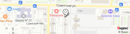 Взор на карте Иркутска