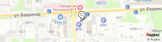 Иркутский склад на карте Иркутска