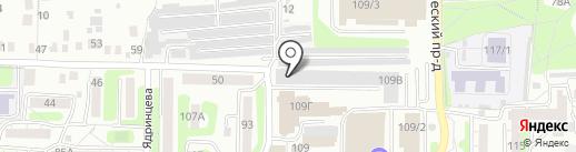 Автогаражный кооператив №29 на карте Иркутска
