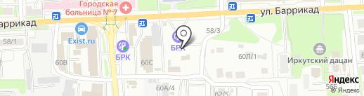 Автоблеск на карте Иркутска
