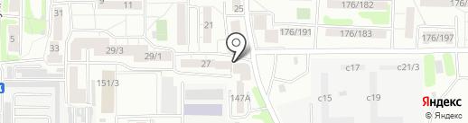 Звезда на карте Иркутска