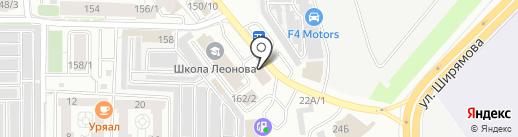 Клумба на карте Иркутска