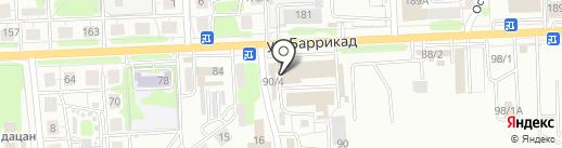 Живица на карте Иркутска