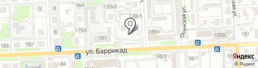 Профсталь на карте Иркутска