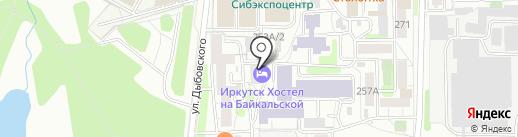 Иркутские Единоборцы на карте Иркутска