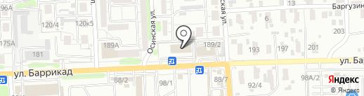 Банкомат, Дальневосточный банк, ПАО на карте Иркутска