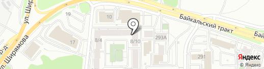 КНОПКА на карте Иркутска