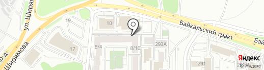 Посейдония на карте Иркутска