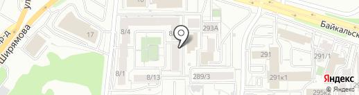 38 попугаев на карте Иркутска