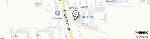 Электриум на карте Иркутска