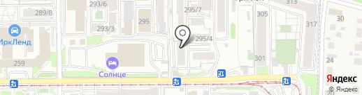 Анклав ВК на карте Иркутска
