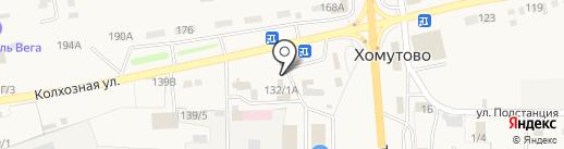 Мясная лавка на карте Хомутово