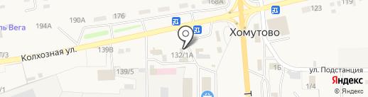Мяспивторг на карте Хомутово
