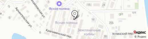 Ясная поляна на карте Новой Разводной