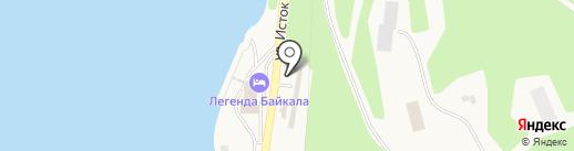 У шаман-камня на карте Листвянки