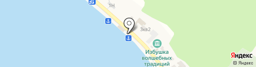 Баня на карте Листвянки