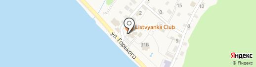 Подлеморье на карте Листвянки