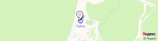 Тайга на карте Листвянки