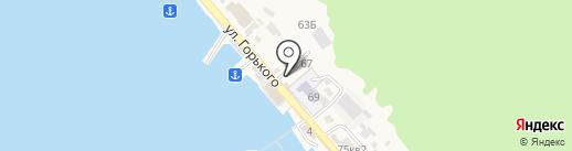 Байкал-лоцман на карте Листвянки