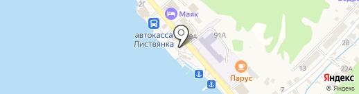 Dauria на карте Листвянки
