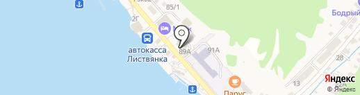 Продуктовый магазин на карте Листвянки
