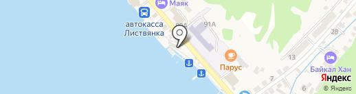 Продовольственный магазин на карте Листвянки